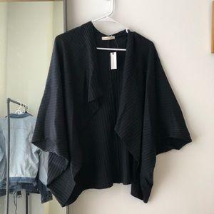 Black ribbed shawl
